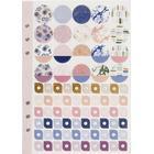 Stickersbok, A5 150x210 mm, lila, guld, rosa, blommor, 1förp.