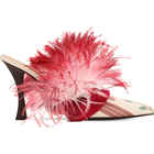 100MM FEATHER & SATIN MULES