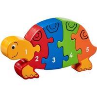 Puslespil - lær tallene 1 til 5, skildpadde - (Fair Trade) - Lanka Kade