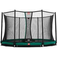 Berg trampolin InGround Favorit + sikkerhedsnet Comfort 430 cm grå