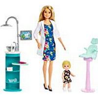 Barbie FXP16Dentist Doll, Blonde and Playset with Patient Small Doll, Sink, Chair and More