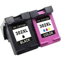 HP 302XL DuoPack (Svart + 3-färg). Kompatibla bläckpatroner (miljöpatroner) ej HP original