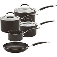 Meyer Aluminium Induction Compatible Cookware set, Black, 5-Piece