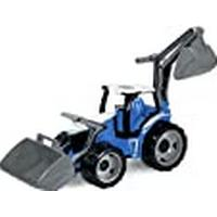 Lena Tractor with Front Loader and Shovel (Large, Blue/White )