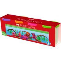 Faber-Castell, modellervoks, 4 neonfarver