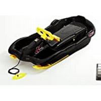 Rulyt Unisex-Youth BOB-EI-03-01 Plastic Sledge Alpen Space with The Steering Wheel, Color-Black, One Size