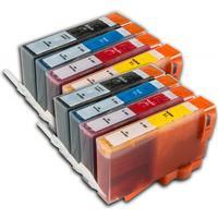 HP 364 XL Set Dubbelt (8-pack) Svart/Cyan/Magenta/Gul. Kompatibla bläckpatroner (ej HP original)