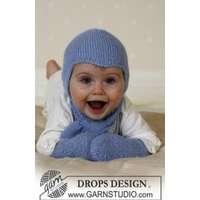 5f7bbd59ce82 Baby Aviator Hat by DROPS Design - Hjälmmössa, Halsduk och Vantar Stic