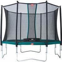 Berg trampolin Favorit inkl. sikkerhedsnet Comfort 380 cm grå