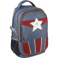 Avengers Captain America Casual Travel Ryggsäck Skolväska Ergonomisk 47cm 11d999f0cdb55