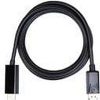 iiglo DP till HDMI kabel 2m Displayport male v 1.3 till HDMI male v 2.0, envägs, PVC, svart