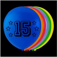 Balloner 15 �rs f�dselsdag - 8 stk