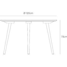 In Between Table SK4 120 cm Rökt oljad ek