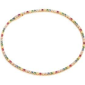 3ee353c1fe92 tennisarmbånd. Sif Jakobs Ellera armbånd i forgyldt med multifarvede cubic  zirkoner