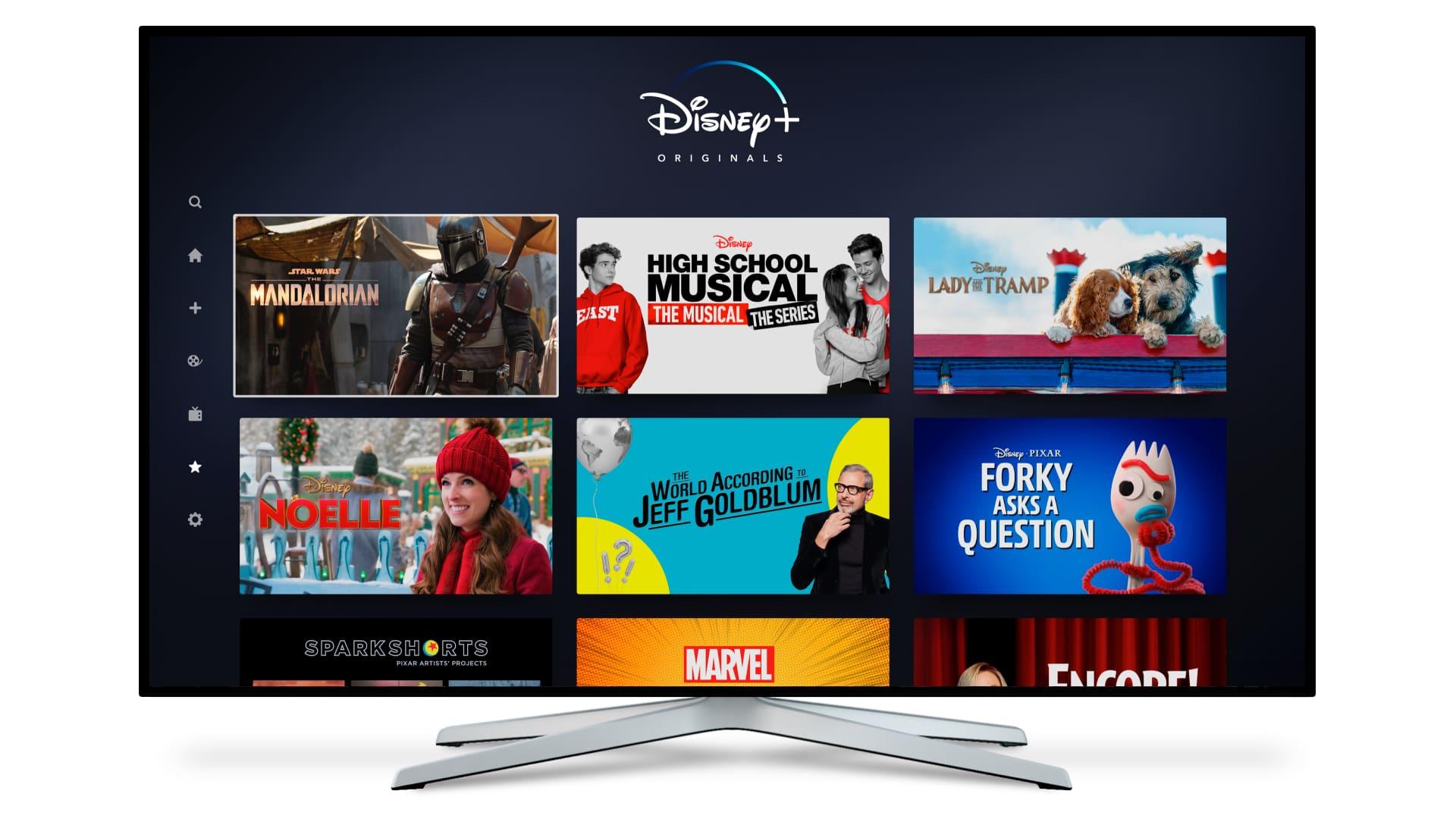Disney Plus on tv