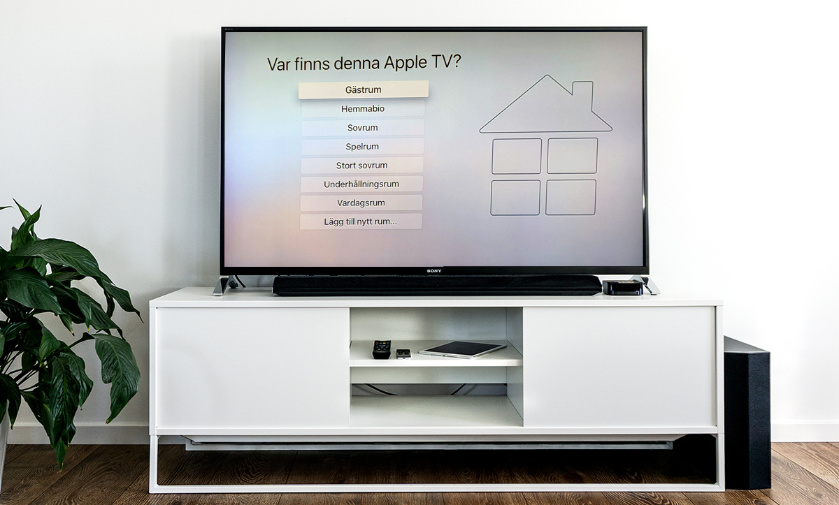 Välj var din Apple TV ska placeras