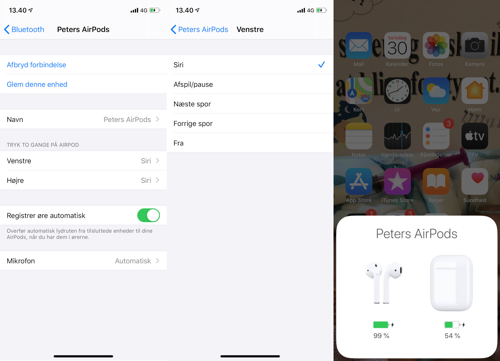 Tilpas dine Apple AirPods