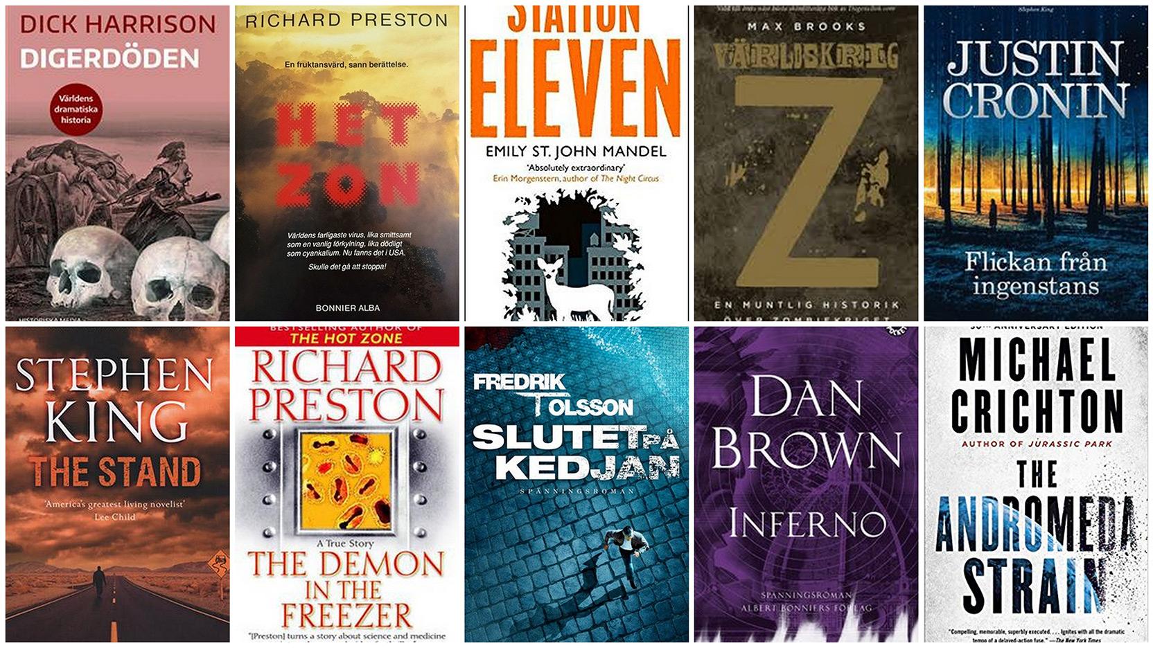 10 böcker om virus, pandemi och smittsam sjukdom