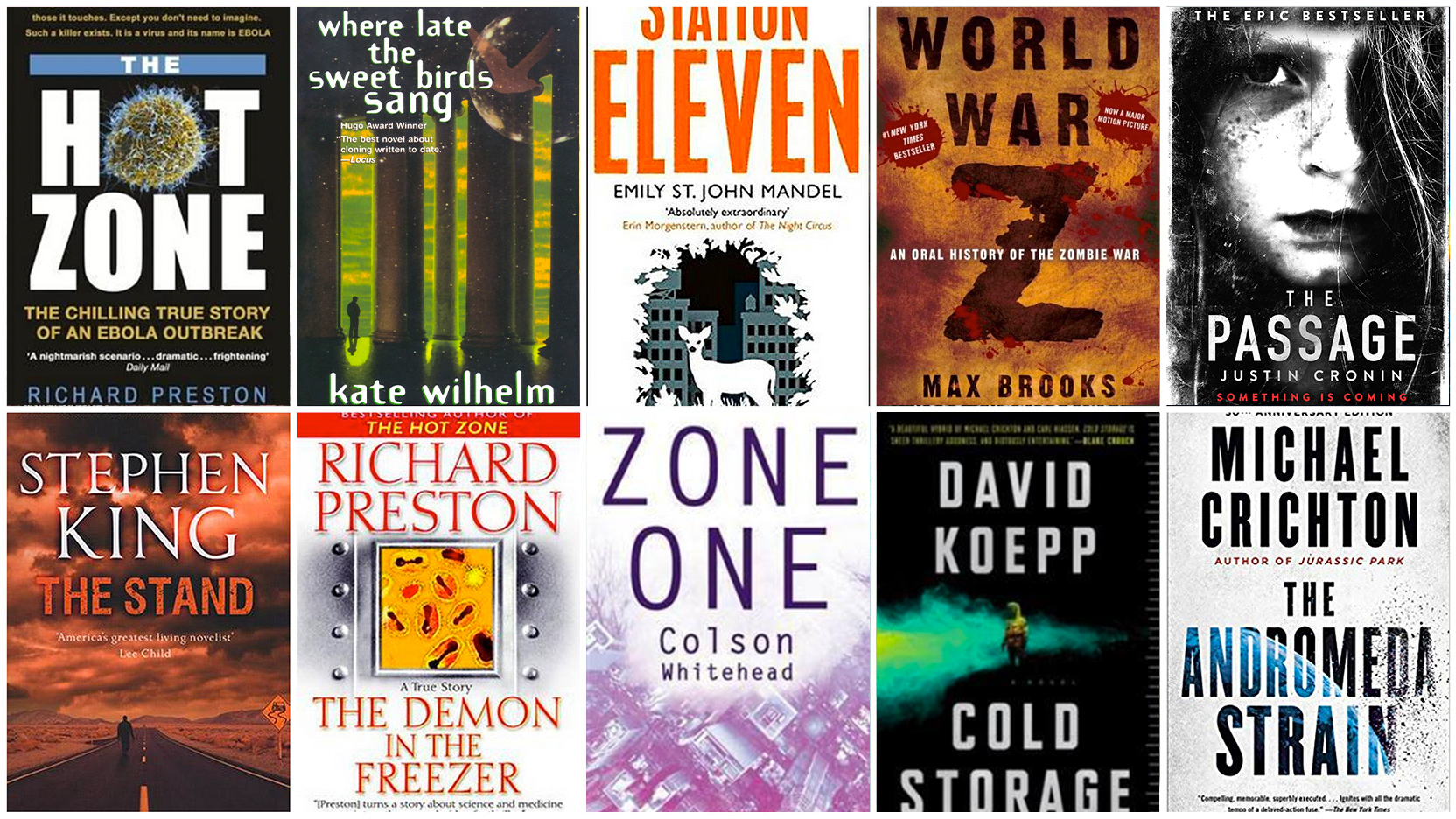 10 read-worthy books on the theme of viruses or infectious disease