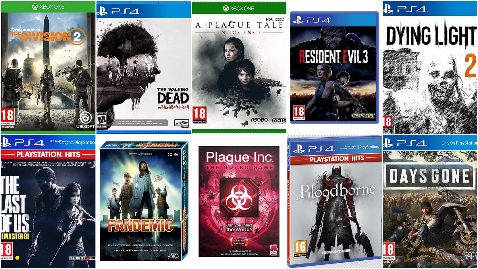 10 spel om pandemi, virus och sjukdom