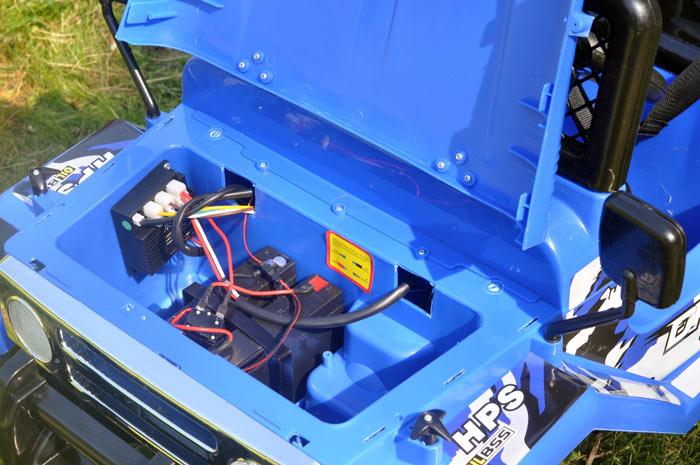 Motor og batteri i en elbil