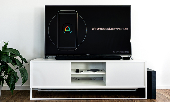 Chromecast setup på tv