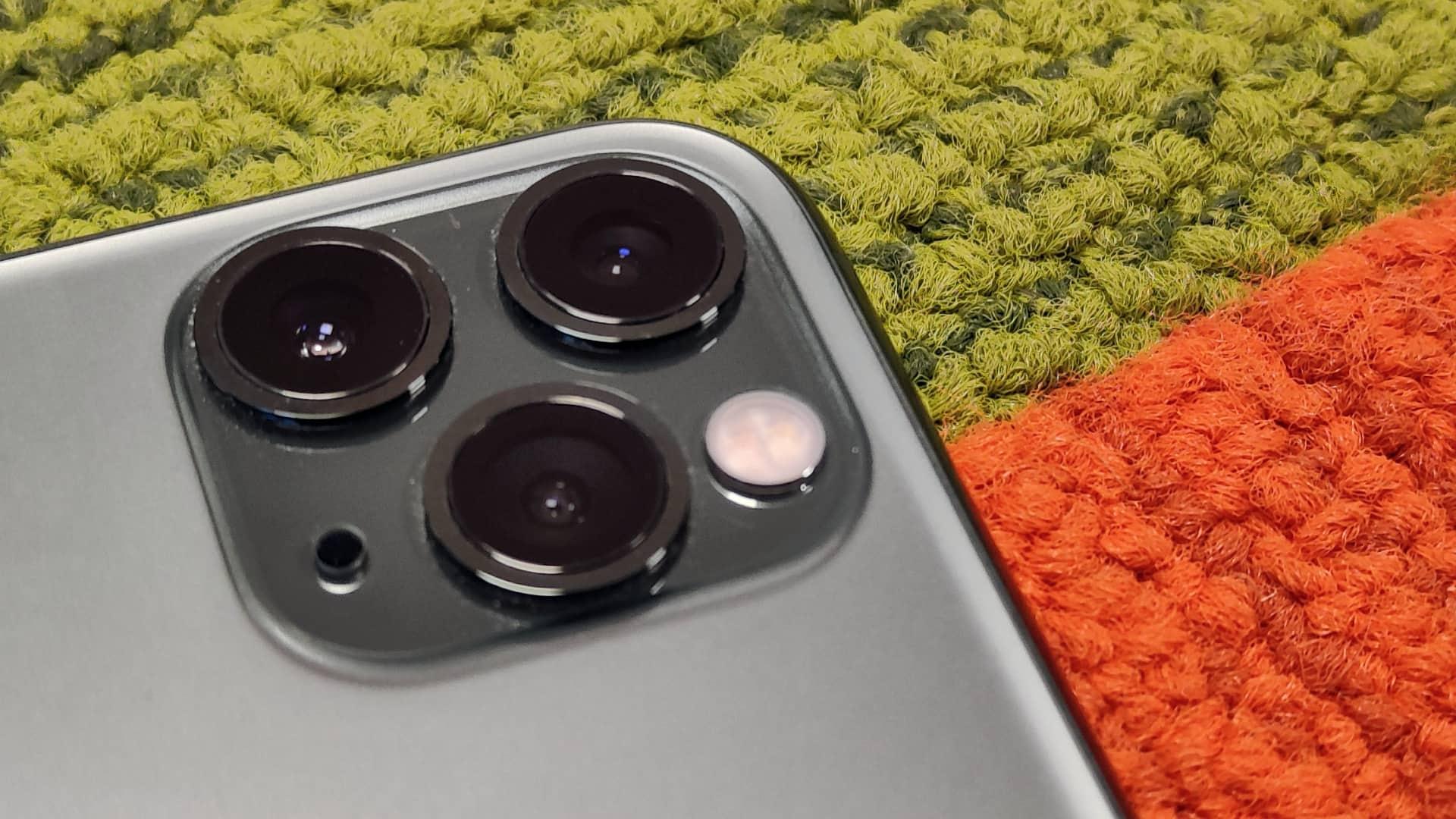 Kameralinserne på Apple iPhone 11 Pro Max