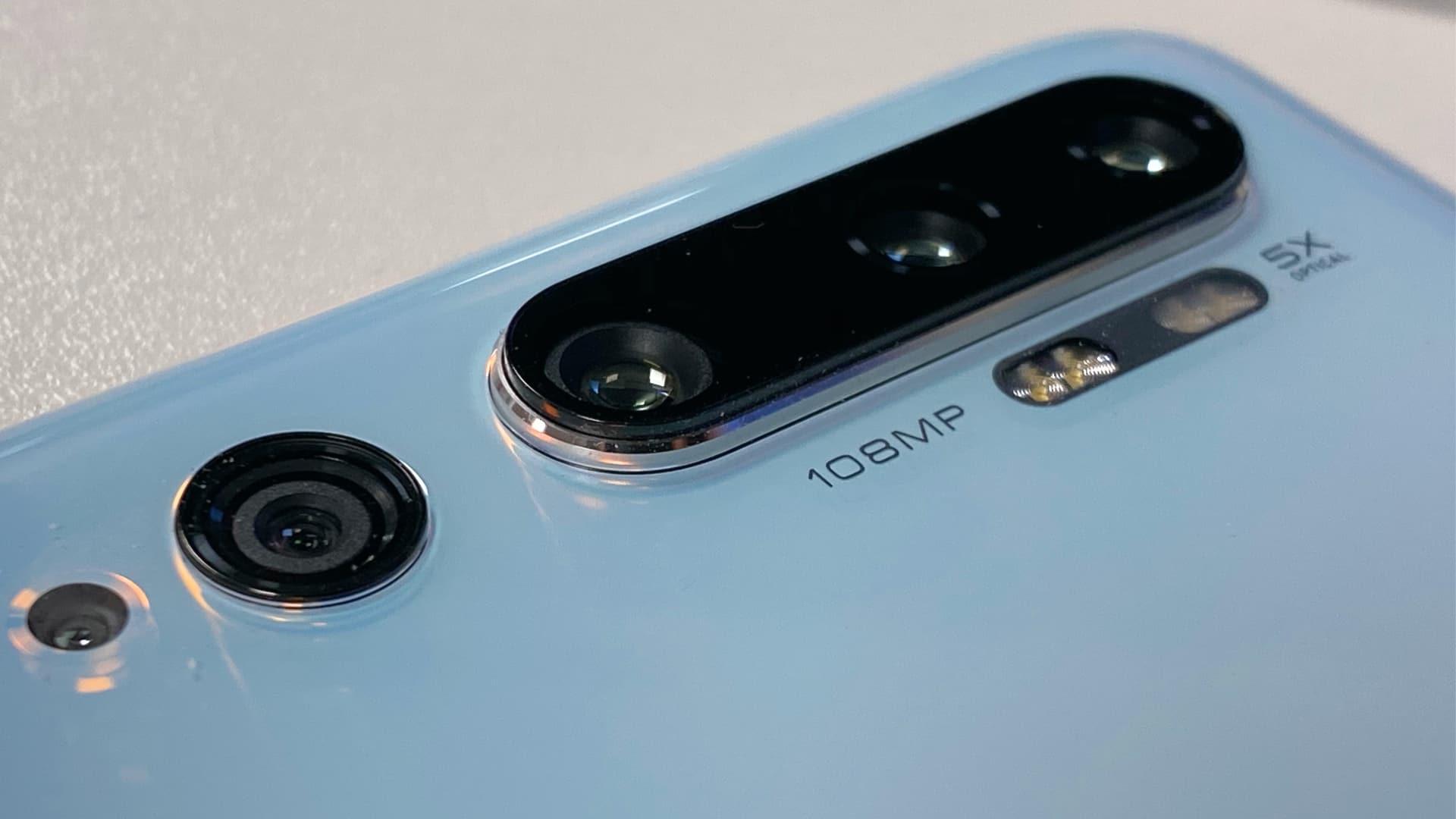 Bagsidekameraet på Xiaomi Mi Note 10