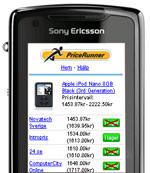 prisjämförelse i mobilen