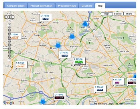 PriceRunner Maps