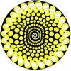 Zomo Slipmat Balls Yellow (Twin pack)
