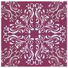 Diverse Serv. Pattern tile purple 33x33 cm