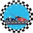 ImageToys Väggklocka med Racerbilar