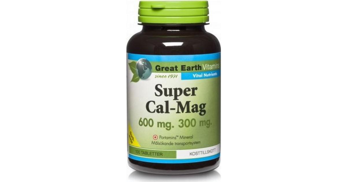 great earth super magnesium 100 tabletter