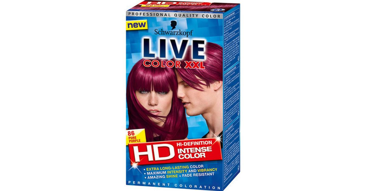 live hårfarve lilla