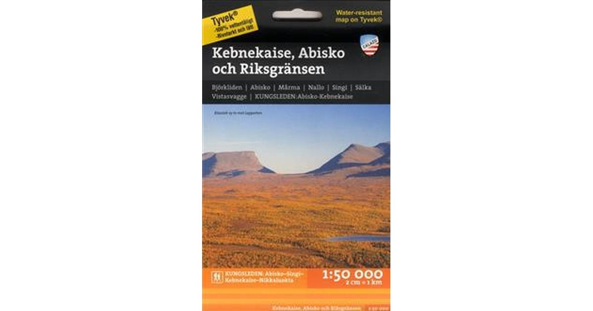Karta Riksgransen Abisko.Kebnekaise Abisko Och Riksgransen 1 50 000 Karta Falsad 2016