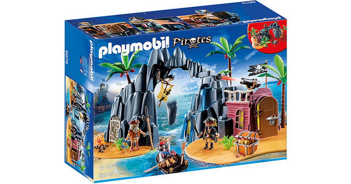 playmobil pirat skatteø 6679  sammenlign priser hos