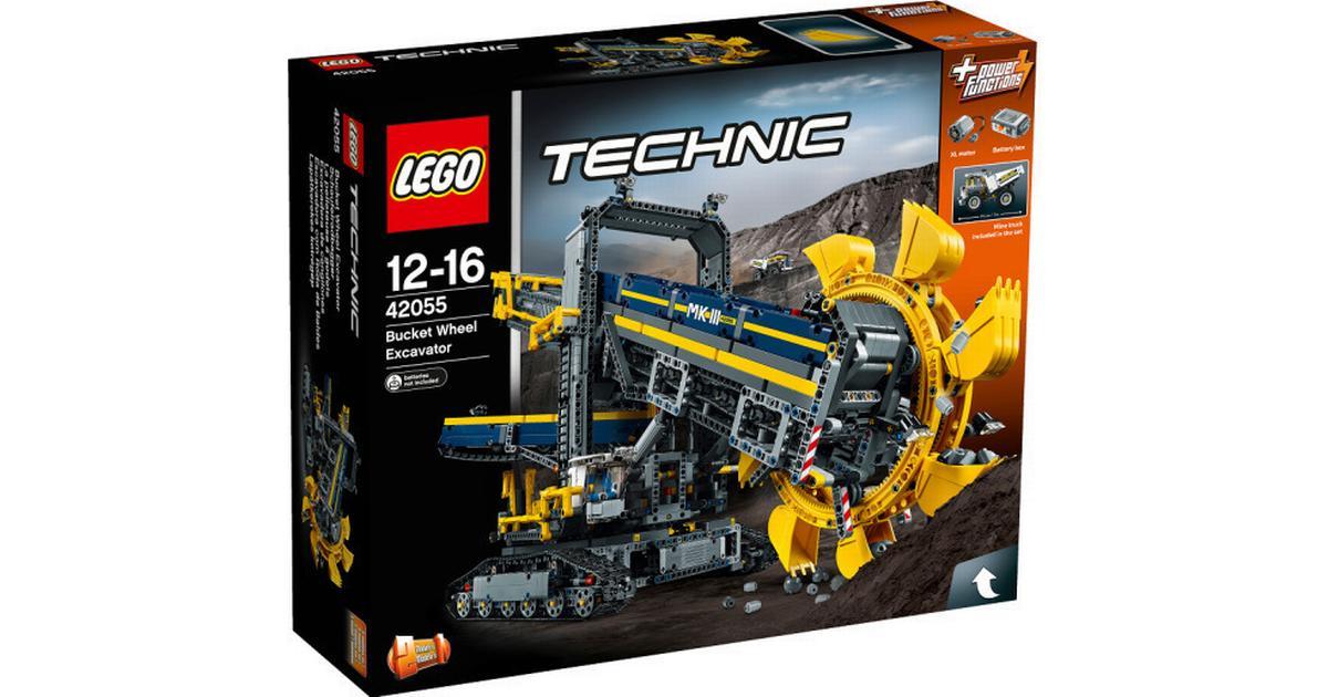 lego technic gravemaskine med skovlhjul 42055 sammenlign. Black Bedroom Furniture Sets. Home Design Ideas