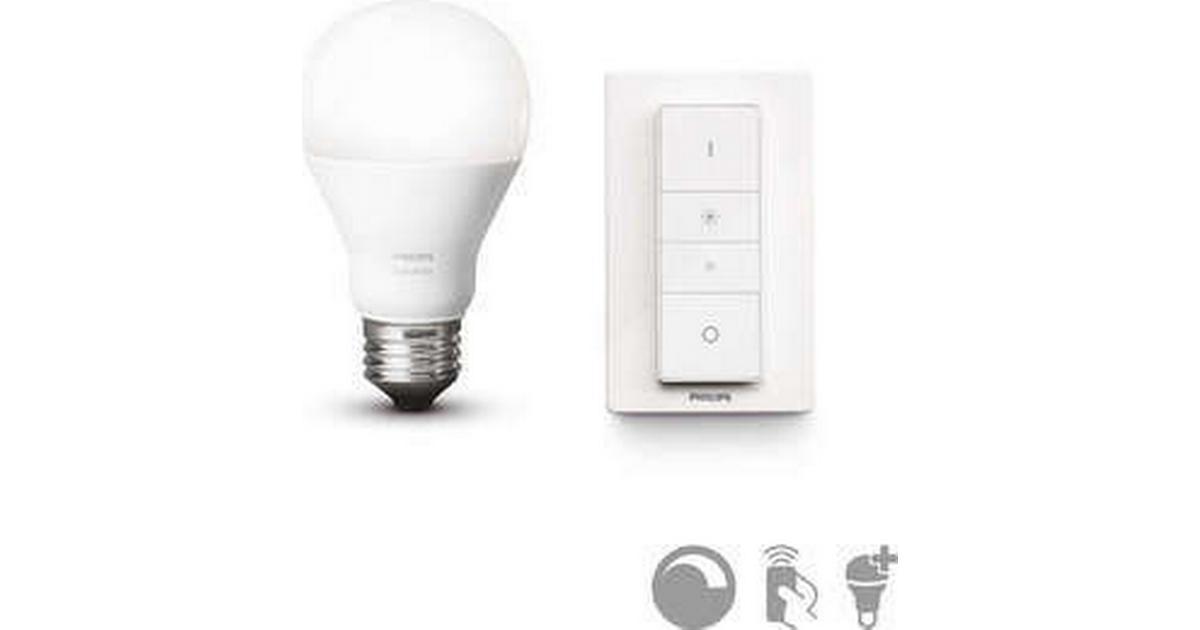 philips hue led lamp 9 5w e27 sammenlign priser hos pricerunner. Black Bedroom Furniture Sets. Home Design Ideas
