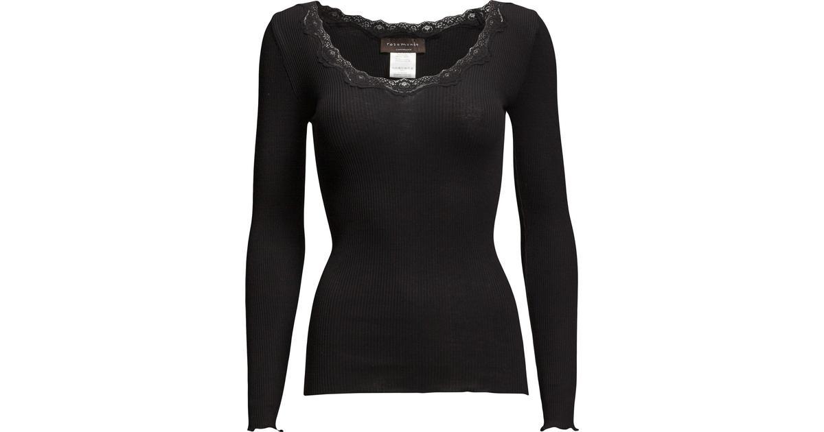 726724da Rosemunde Silk T-Shirt Regular LS W/Rev Vinta - Black - Sammenlign priser  hos PriceRunner