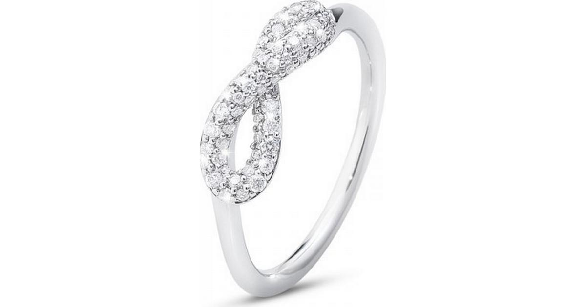72f65ce686a Georg Jensen Infinity - Silver Ring med Diamanter (3560440) - Sammenlign  priser hos PriceRunner