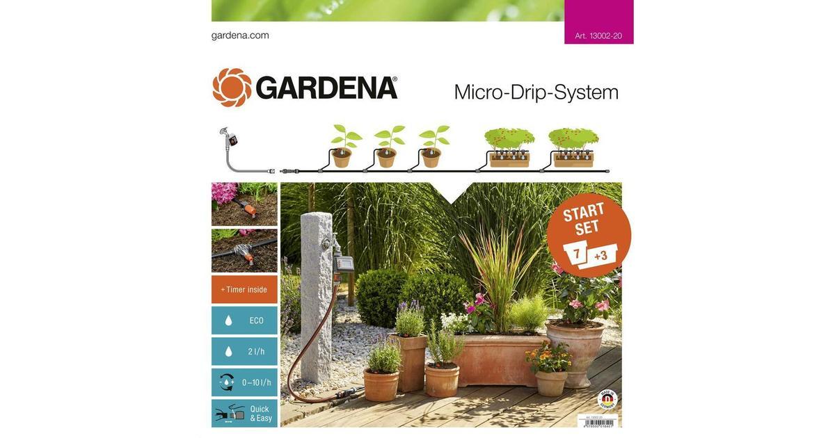 Gardena Micro Drip System Starter Set Plant Pots M Automatic - Hitta bästa  pris e64688deaa712