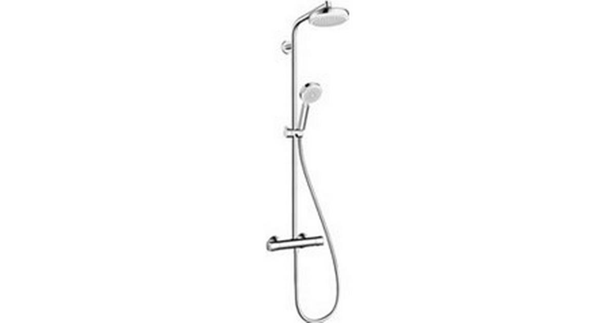 hansgrohe crometta 100 160 showerpipe 1jet 27264400 krom 150c c sammenlign priser hos. Black Bedroom Furniture Sets. Home Design Ideas