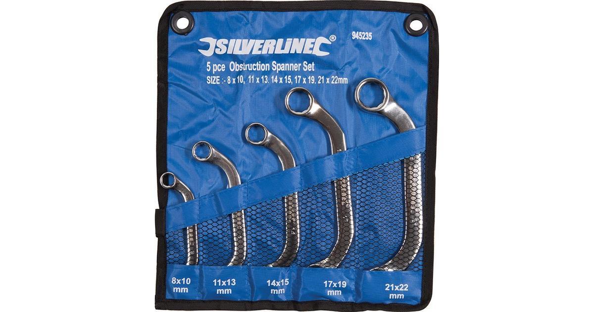 5-tlg 22 mm Silverline 945235 Starter-Blockschl/üssel Satz 8