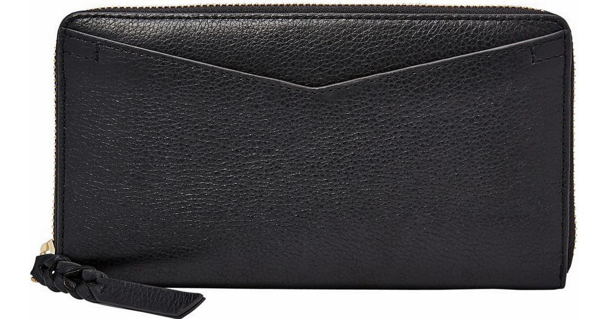 f3cc7786195 Fossil Caroline RFID Zip Around Wallet - Black (SL7354P) - Sammenlign  priser hos PriceRunner