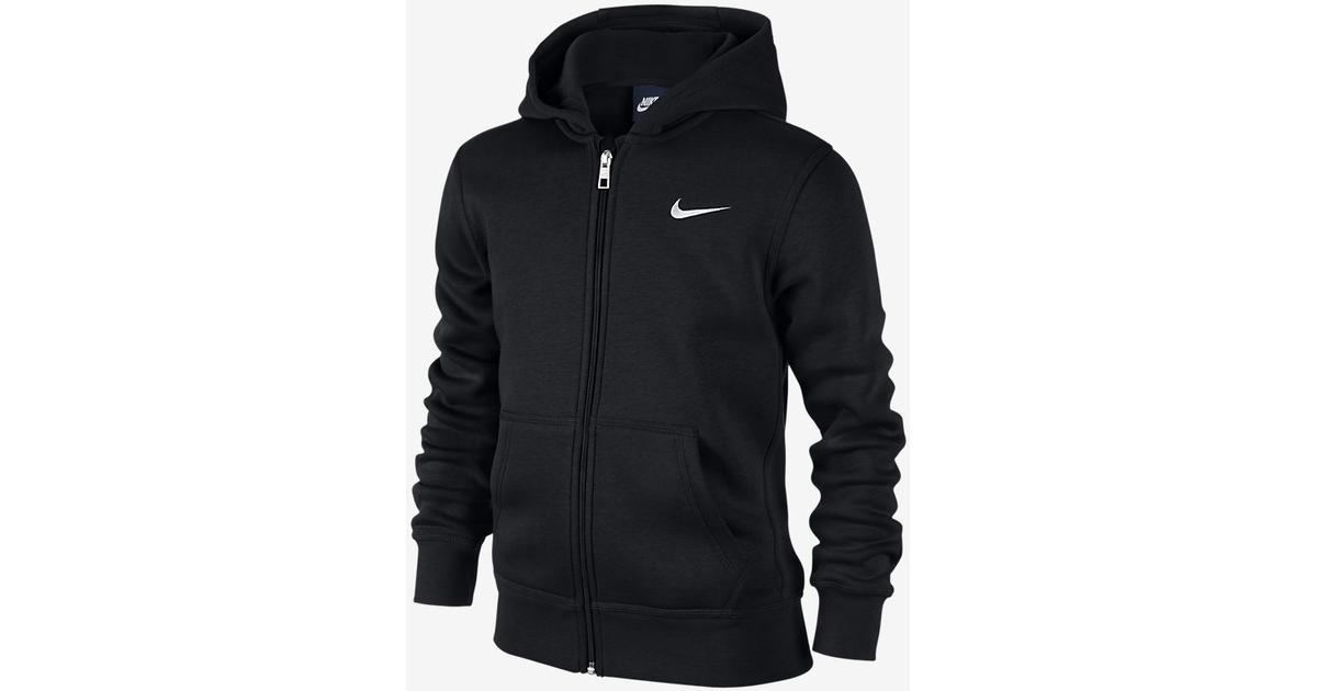 7ad6b4fed1c Nike Brushed Fleece Full-Zip - Black / White (619069_010) - Sammenlign  priser hos PriceRunner