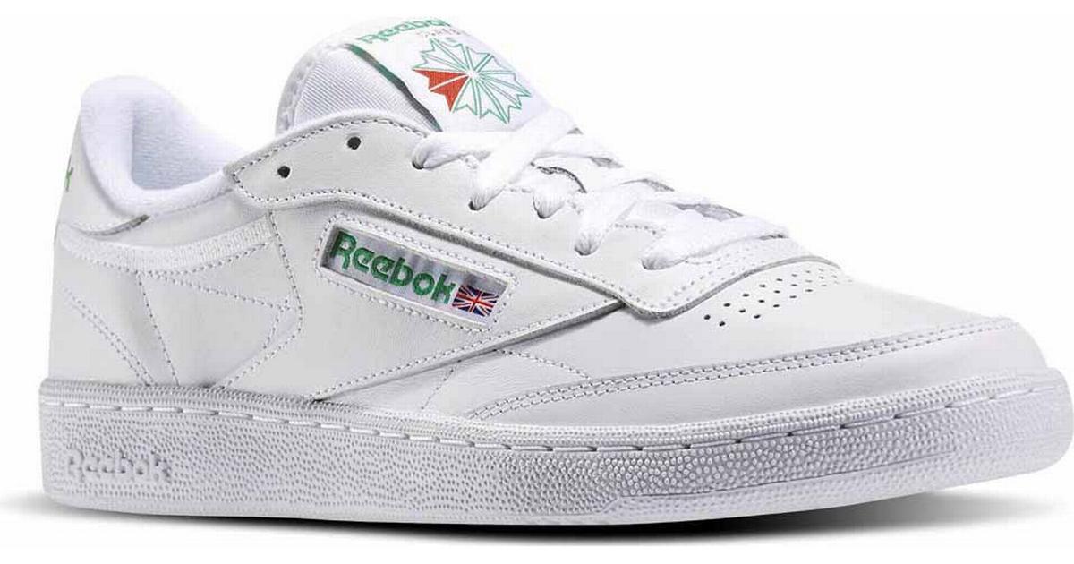 64b5c0210471f Reebok Club C 85 - White Green - Sammenlign priser hos PriceRunner