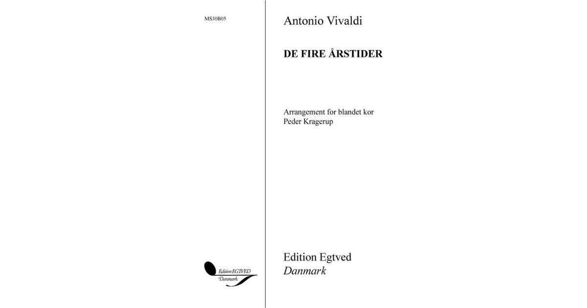De fire årstider: af Antonio Vivaldi, Hæfte - Sammenlign priser hos PriceRunner