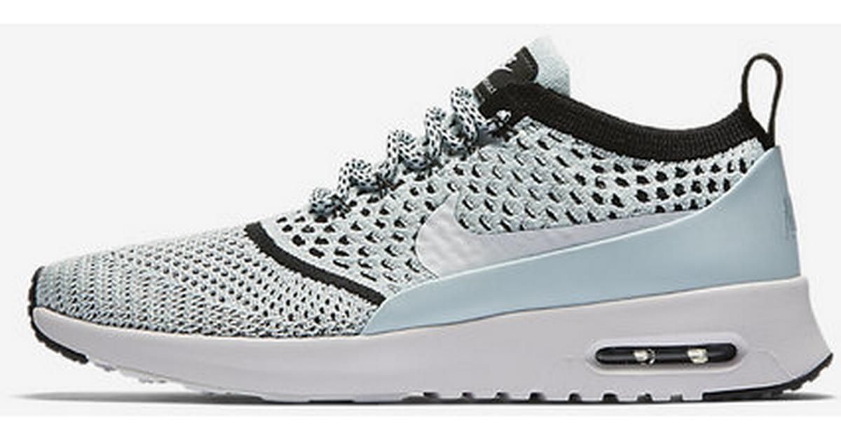 on sale 8e8e4 7f575 Nike Air Max Thea Flyknit - Blue Black White - Sammenlign priser hos  PriceRunner