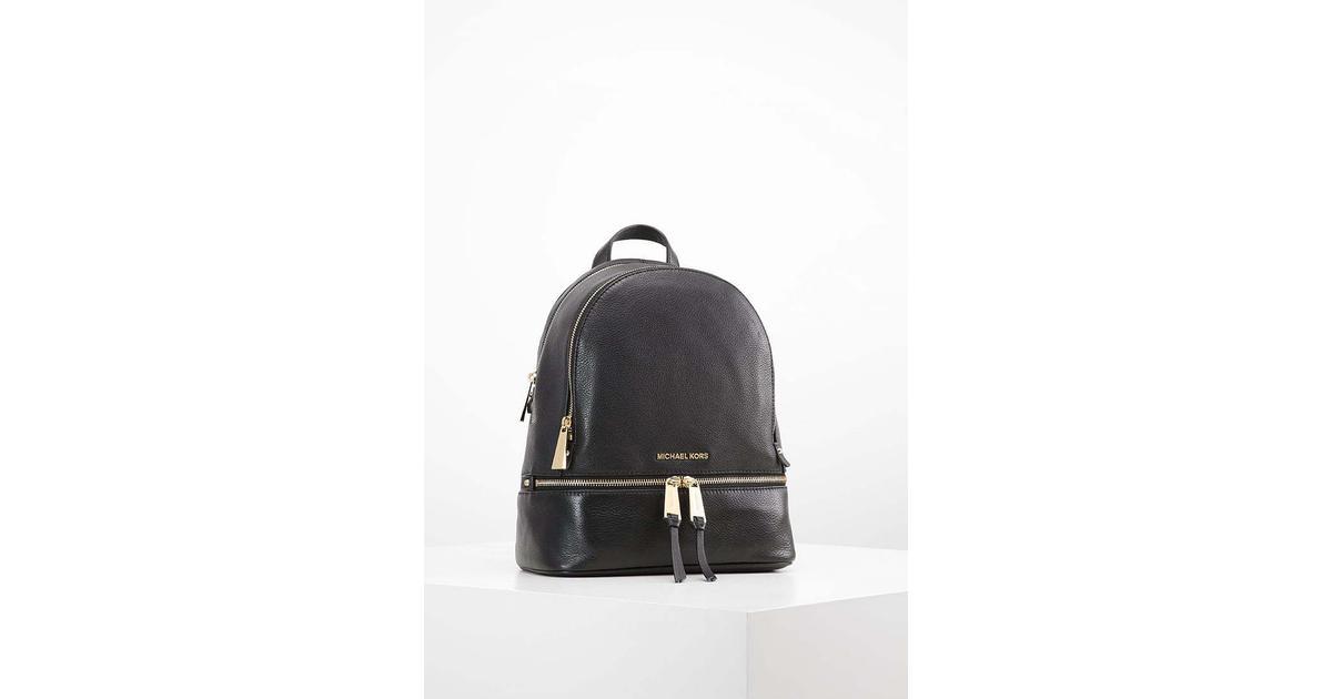 af7b98d67441 MICHAEL Michael Kors Rhea Large Leather Backpack - Black - Hitta bästa  pris